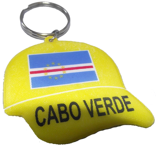 . CV Flag Gold Rubber Hat Keychain .