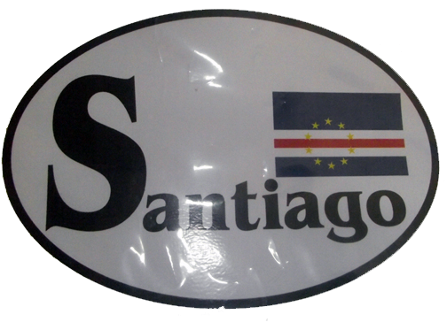 Santiago CV Flag Bumper Sticker