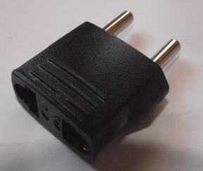 Universal USA to European Plug Adapter AC