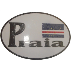 Praia CV Flag Bumper Sticker