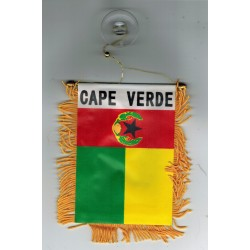 Car Mini flag 	cabo verde
