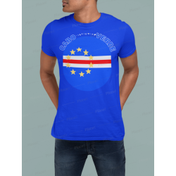 Cabo Verde Round Flag T-Shirt