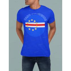 Cape Verde Round Flag T-Shirt